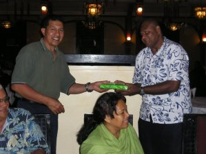 Staff - Tevita Tamani. Working in Suva the capital of Fiji. (on the right)